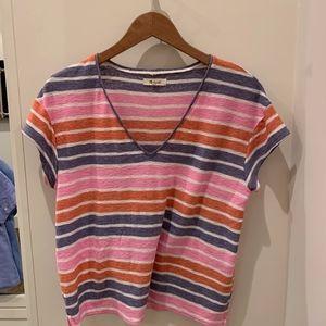 Madewell Stripe Linen Shirt Med